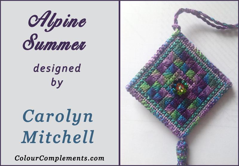 hand dyed perle cotton, alpine summer