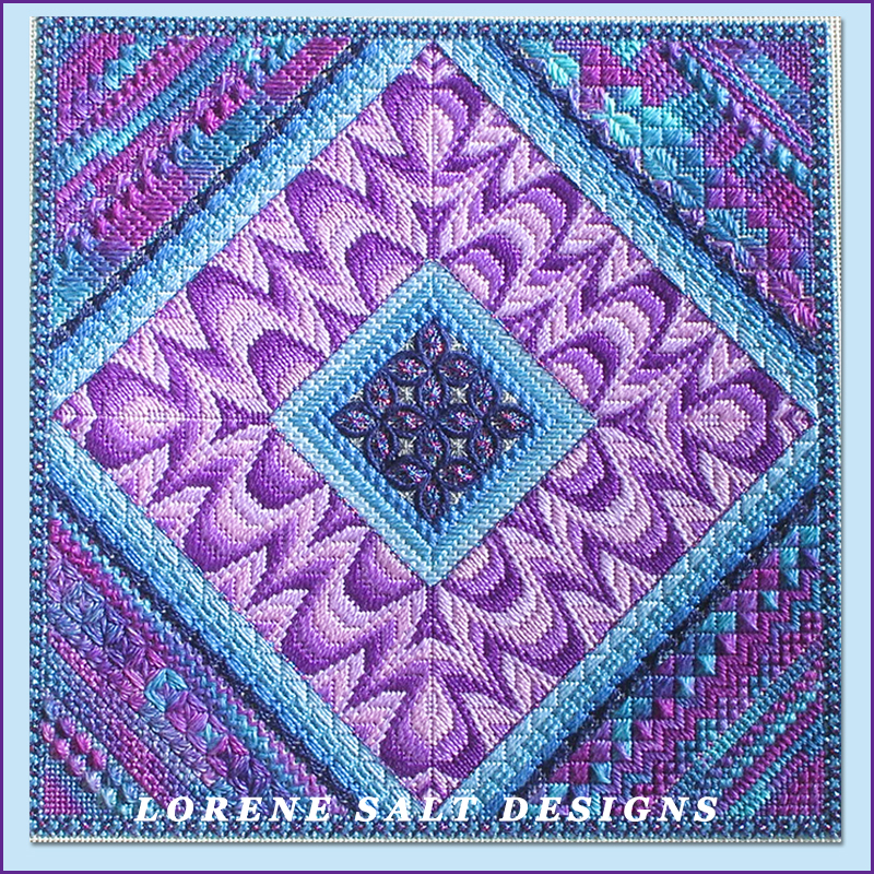 Lorene Salt, needlepoint, Shockwave