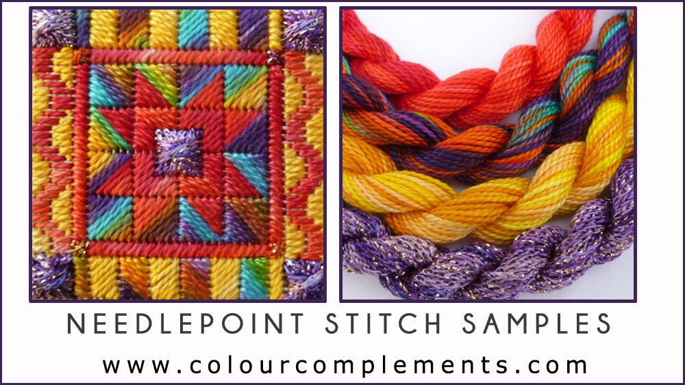 needlepoint, needlepoint stitch sample, stitch sample