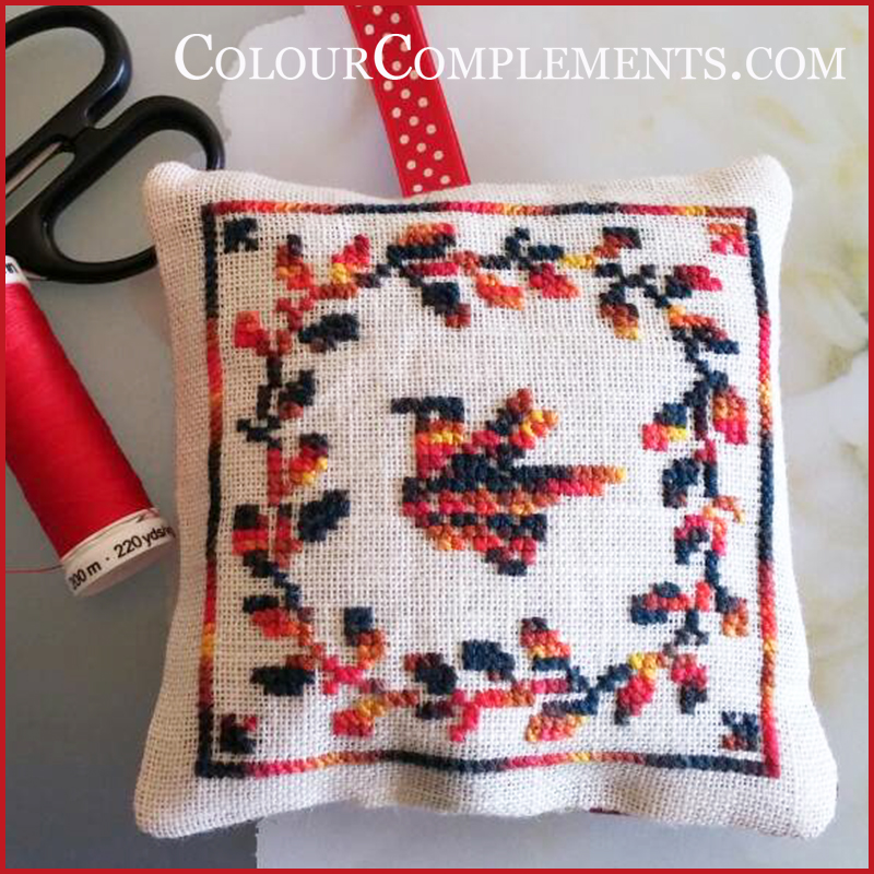 CROSS STITCH, hand dyed perle cotton