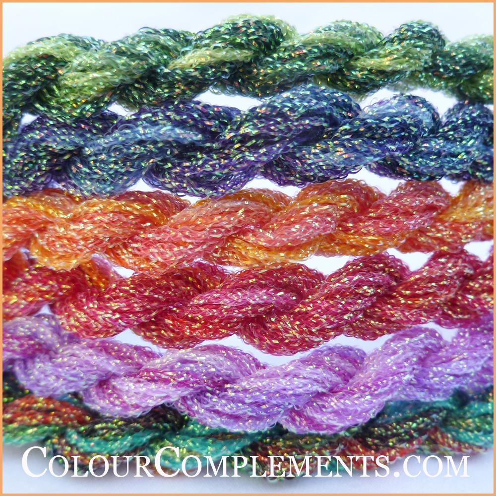 KREINIK #16 BRAID, hand dyed Kreinik
