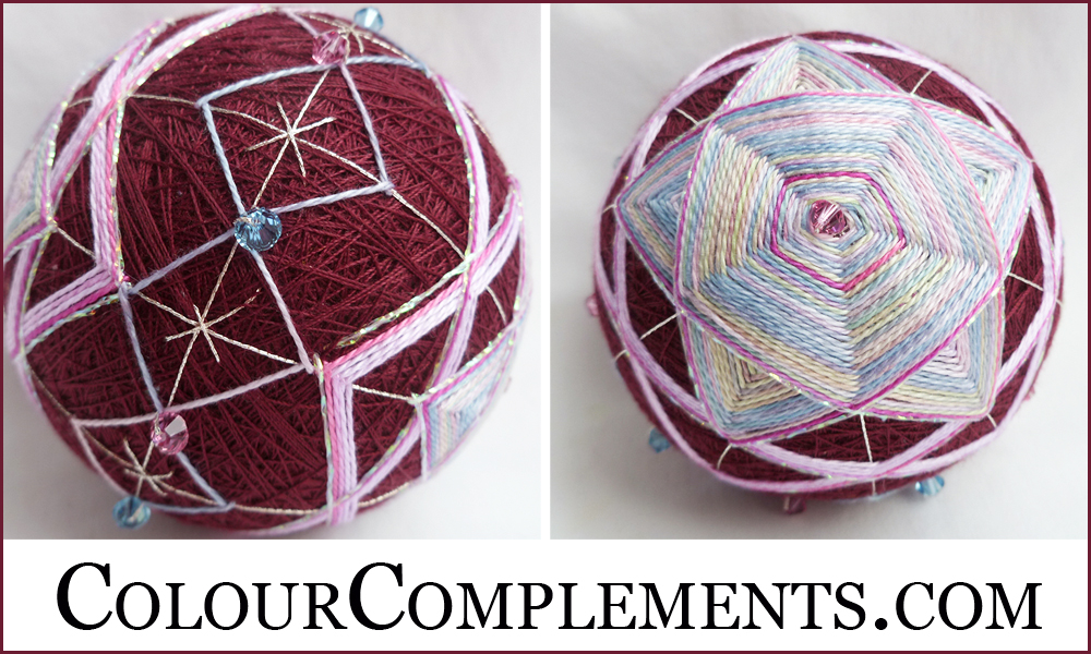 TEMARI, hand dyed threads, Colour Complements