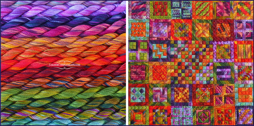 RAINFOREST CRUNCH, NeedleDelights, Colour Complements threads