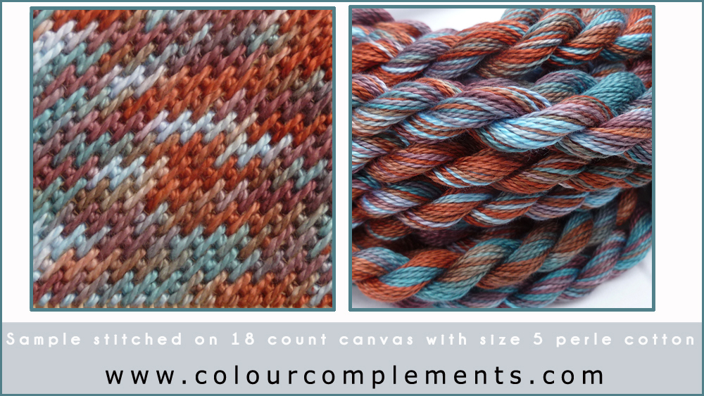 needlepoint stitch samples, Colour Complements threads