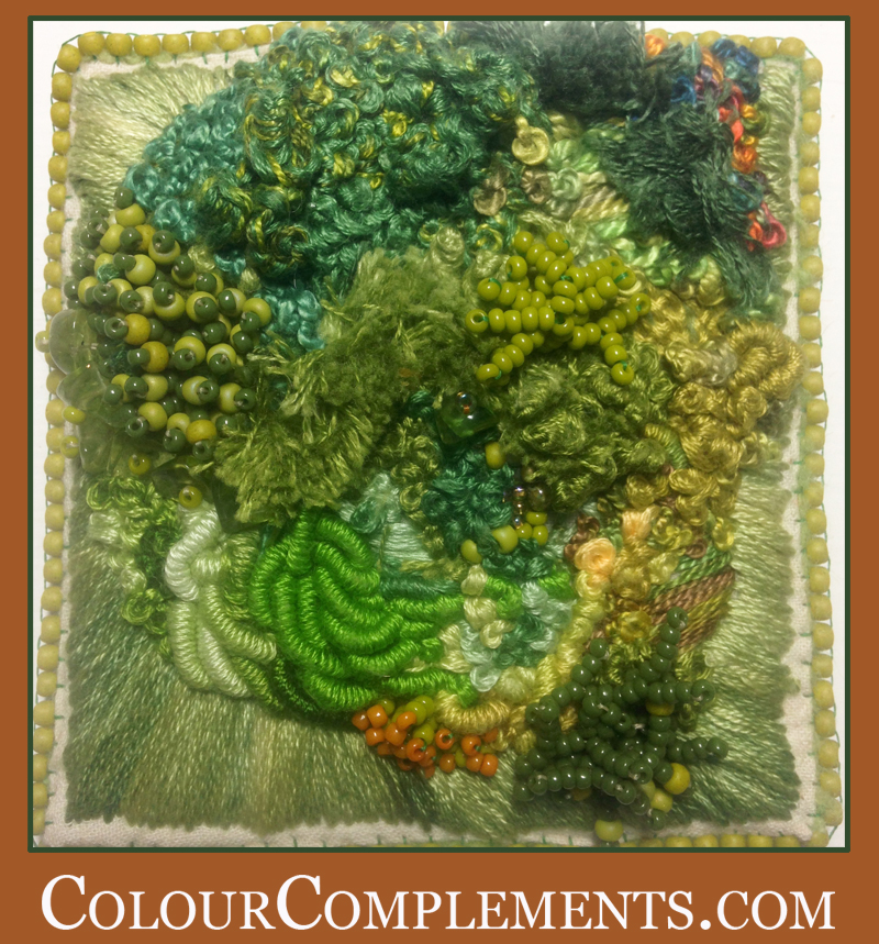 FREE FORM EMBROIDERY, hand dyed embroidery threads