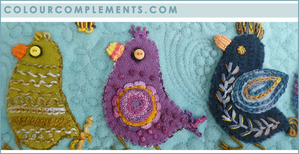 WOOL APPLIQUE, hand dyed perle cottons