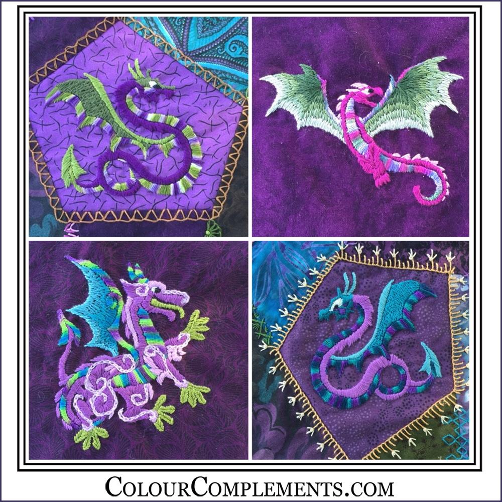 CRAZY QUILTING, hand dyed perle cotton