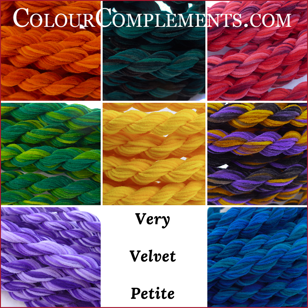 VERY VELVET PETITE, hand dyed embroidery threads