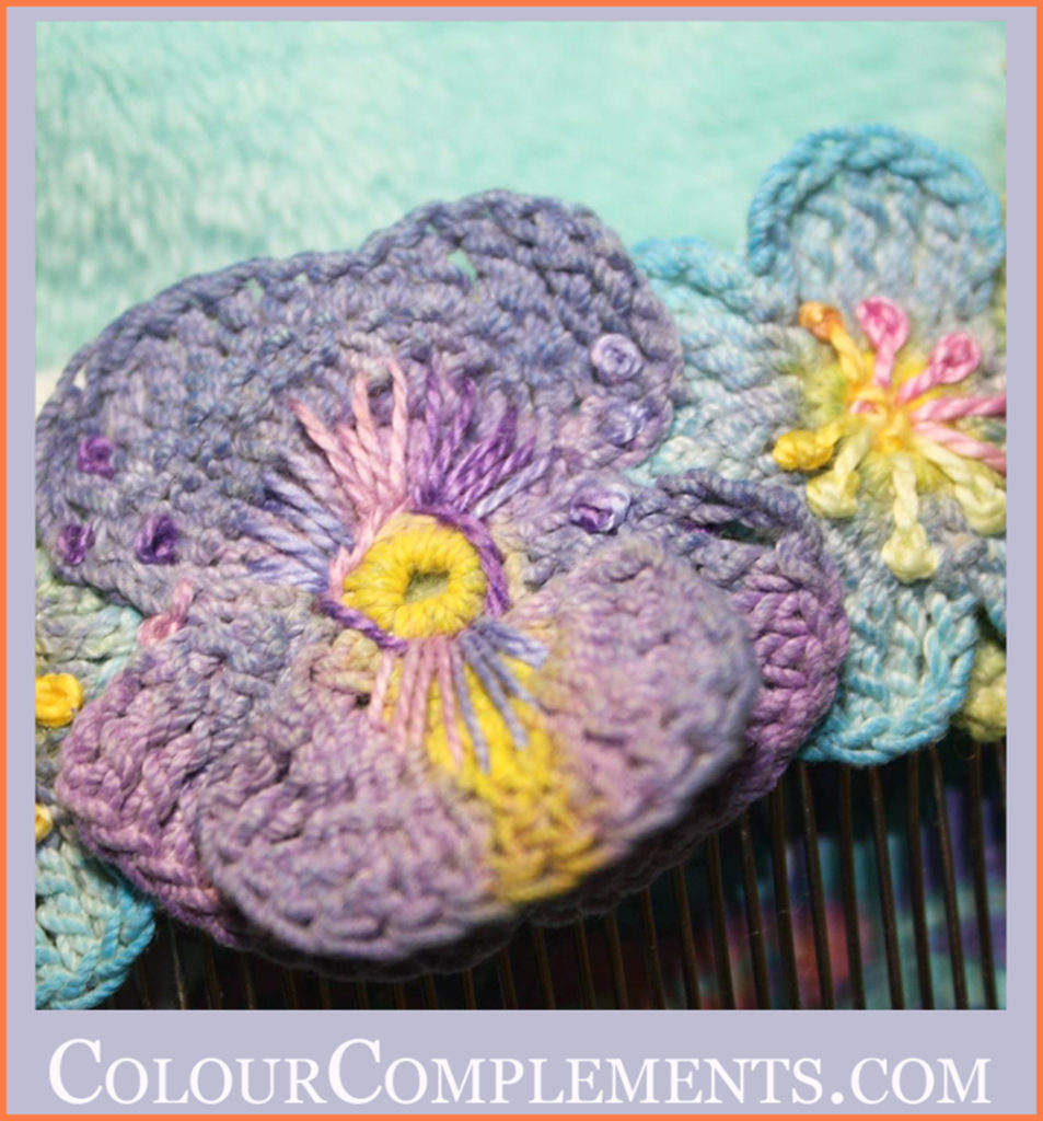 CROCHET, hand dyed embroidery thread