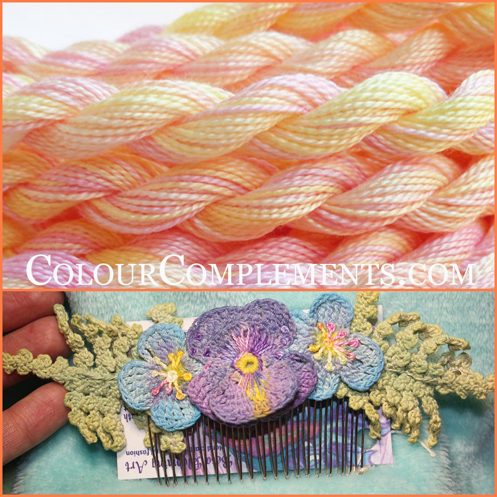 CROCHET, hand dyed embroidery threads