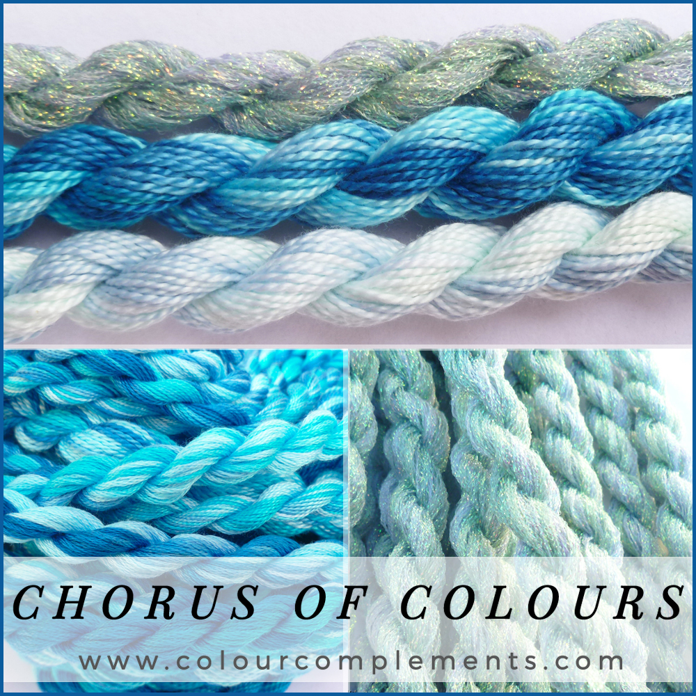 CHORUS OF COLOURS, hand dyed embroidery threads