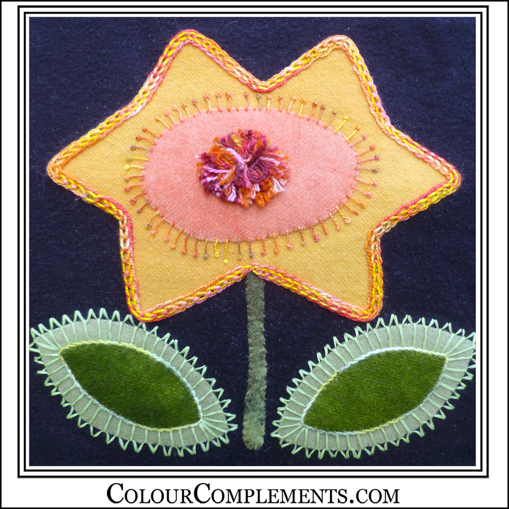 BLOOMIN BEAUTIES, wool applique