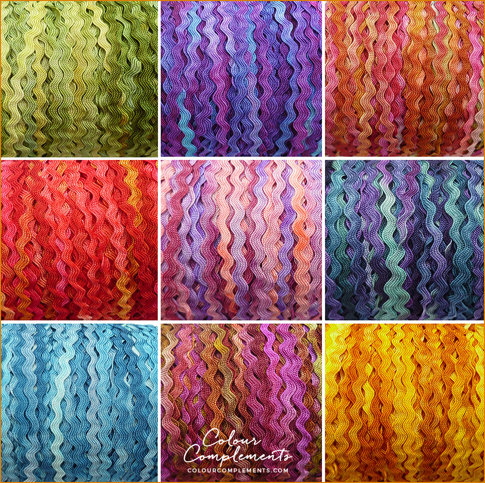 RAYON RIC RAC, Colour Complements Threads