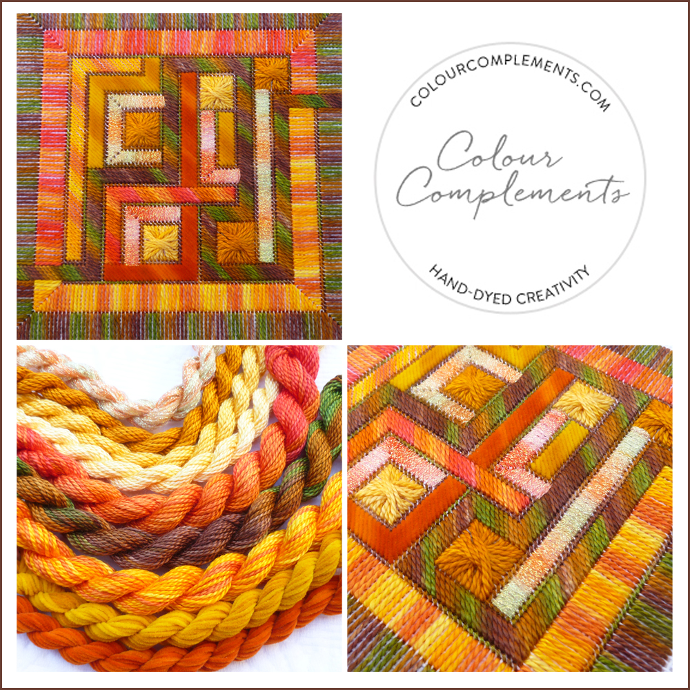 NEEDLEPOINT, hand dyed embroidery threads