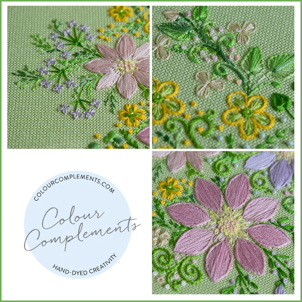 EMBROIDERY, COLOUR COMPLEMENTS