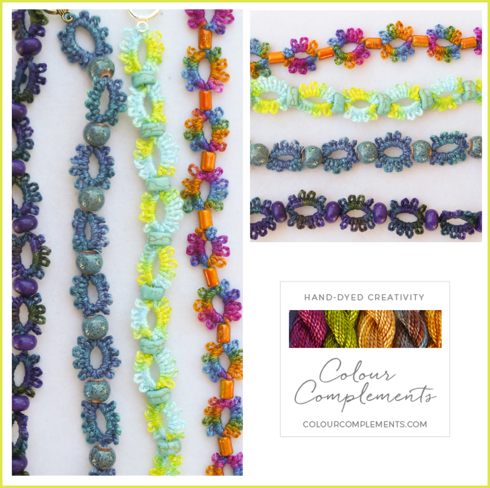 TATTING, COLOUR COMPLEMENTS THREADS