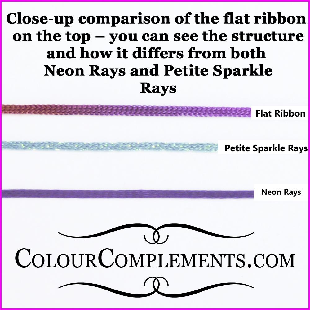 flat ribbon, silk perle