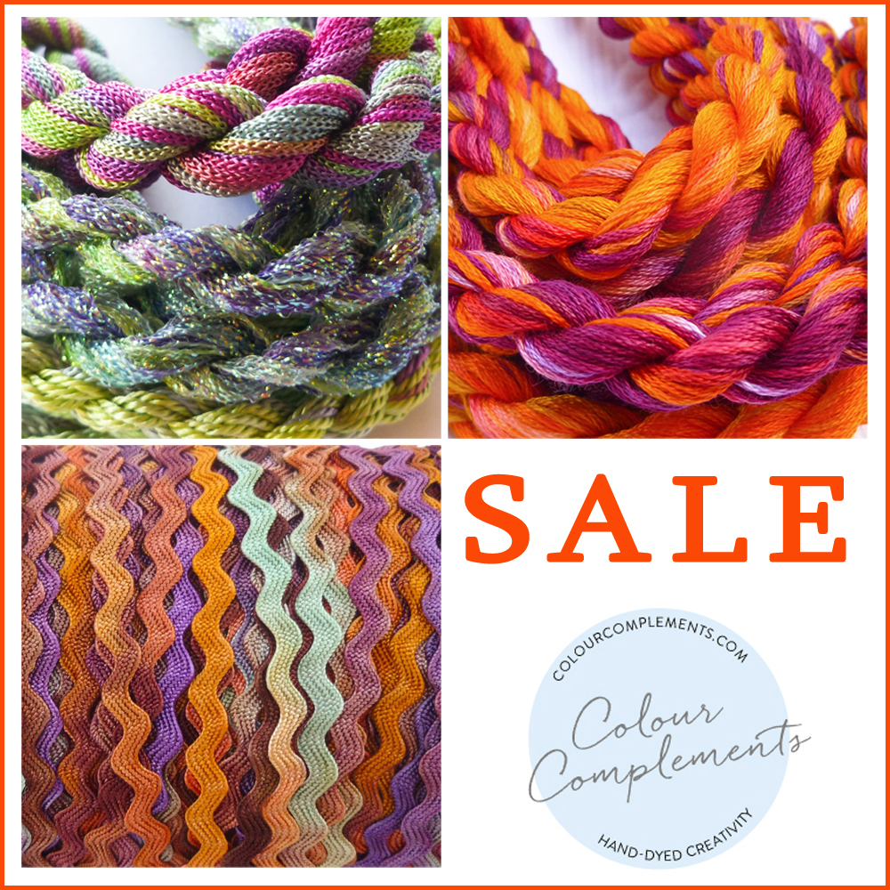 COLOUR COMPLEMENTS SALE, Hand dyed embroidery threads