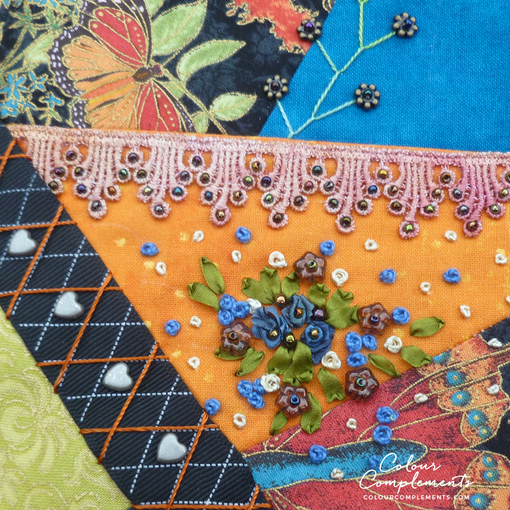 CRAZY QUILTING, COLOUR COMPLEMENTS THREADS