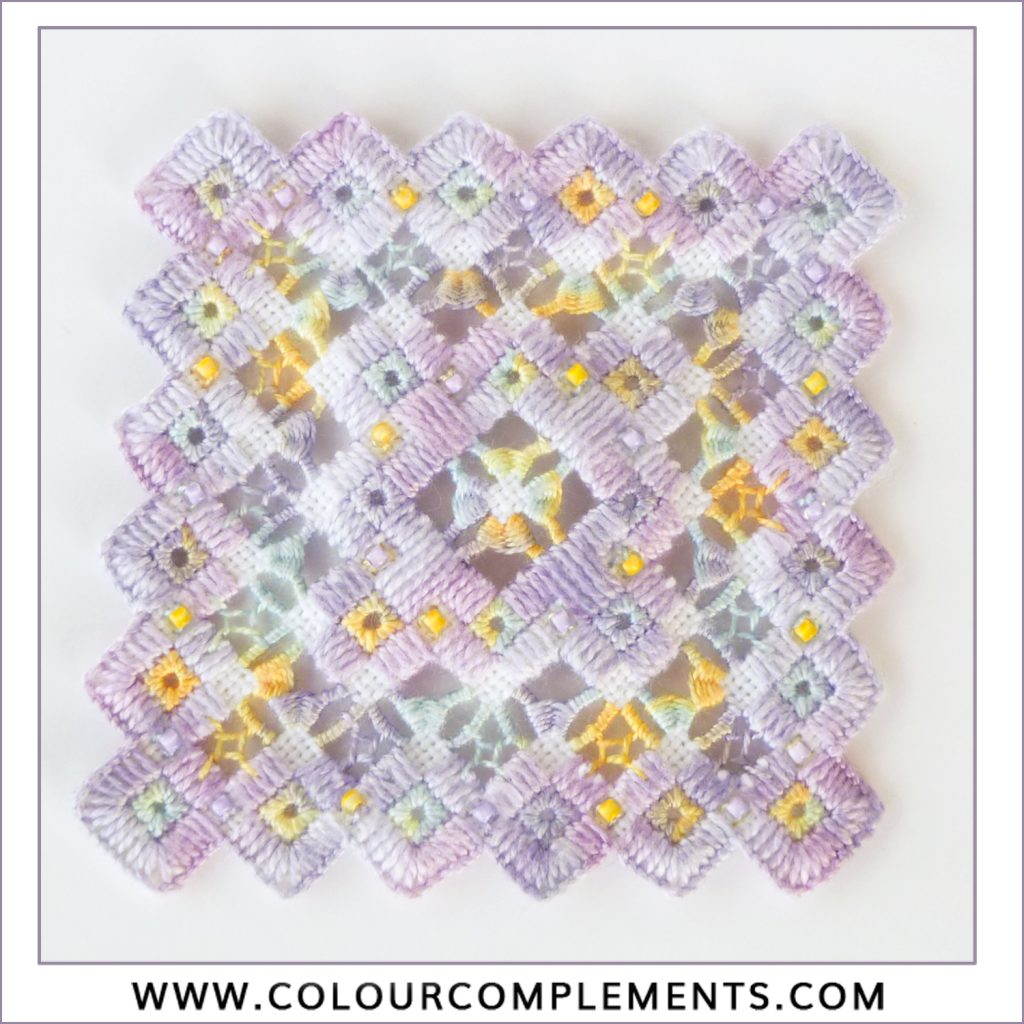 Colour Complements threads; hardanger