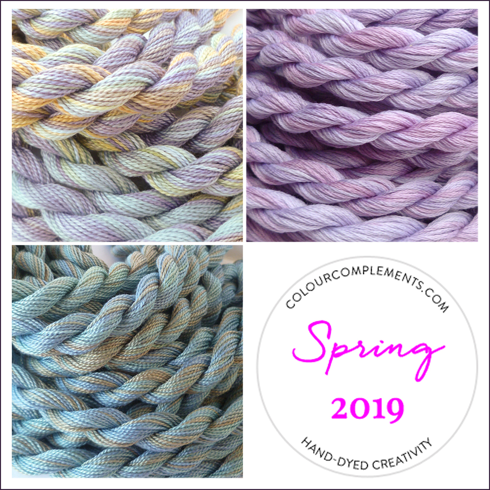 Colour Complements Spring Collection; hand dyed threads