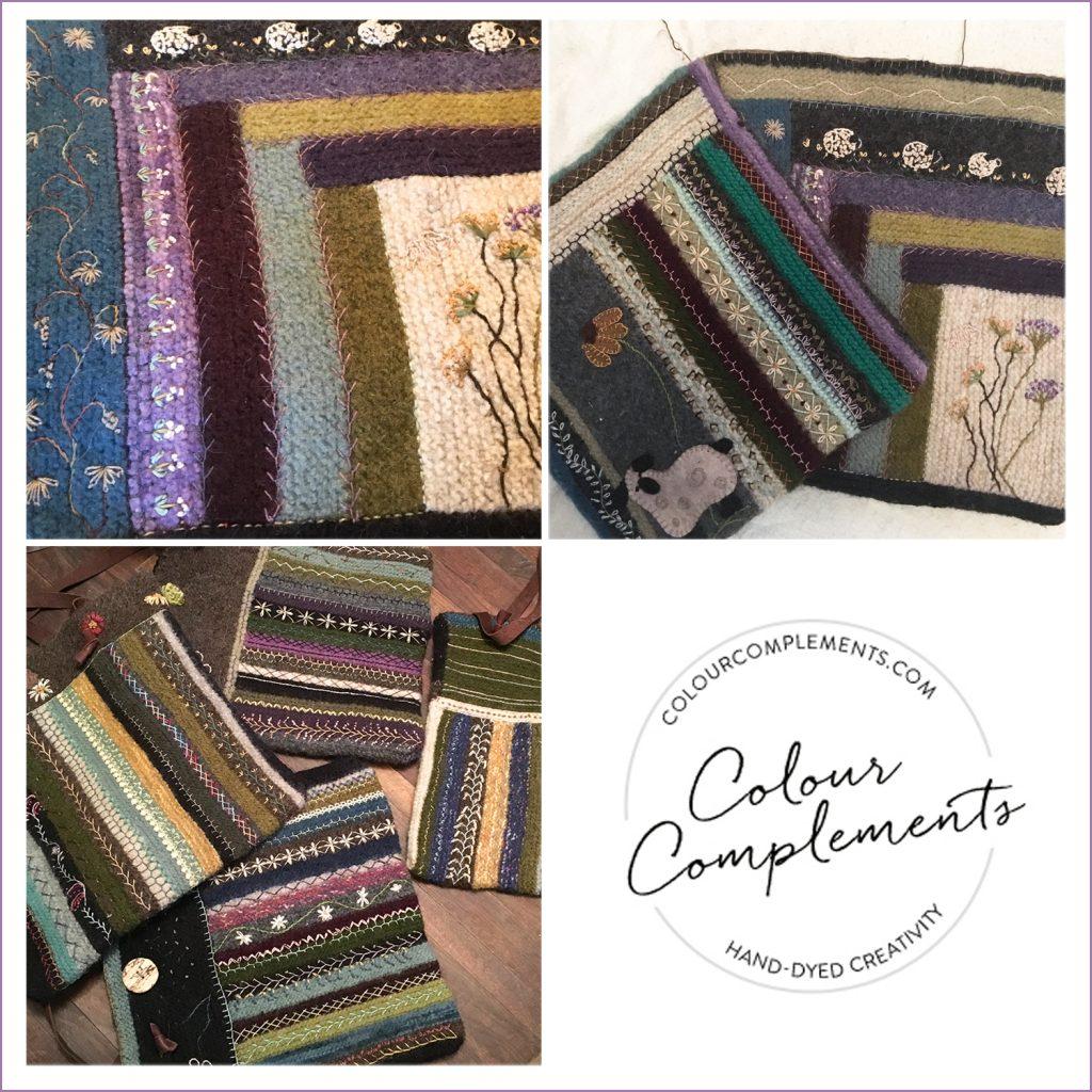purses; colour complements perle cotton