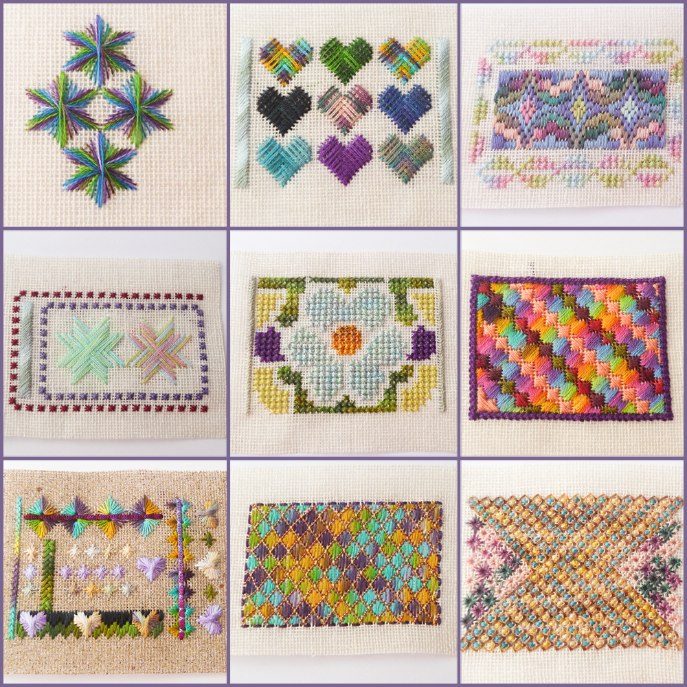 needlepoint, colour complements hand dyed threads