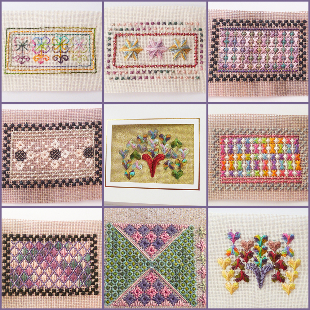 needlepoint; colour complements embroidery floss