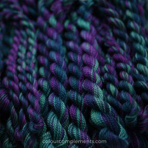 teal purple perle cotton