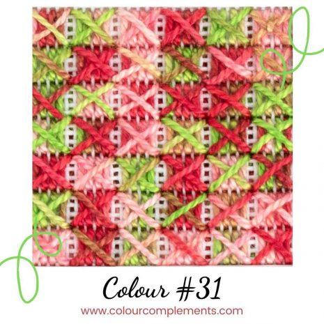 eye for colour #31 - stitch sample colour #31