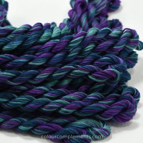 teal purple cotton floss by Colour complements
