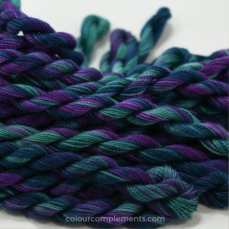 teal purple perle cotton by Colour Complements 8