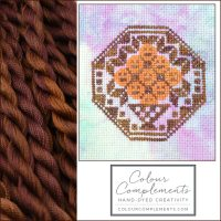 CROSS STITCH with brown cotton floss