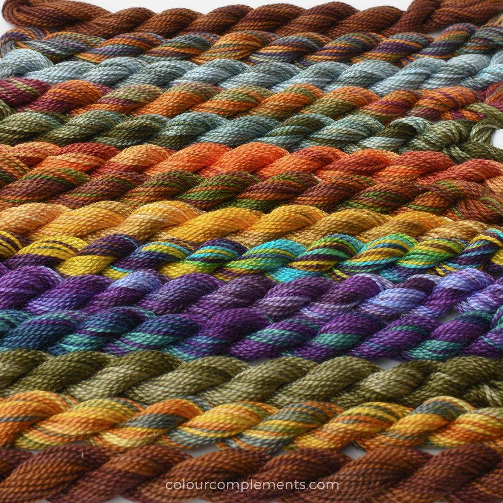 Autumn Logs thread kit by Colour Complements