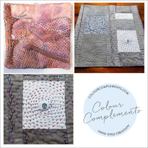art quilting with colour complements embroidery threads