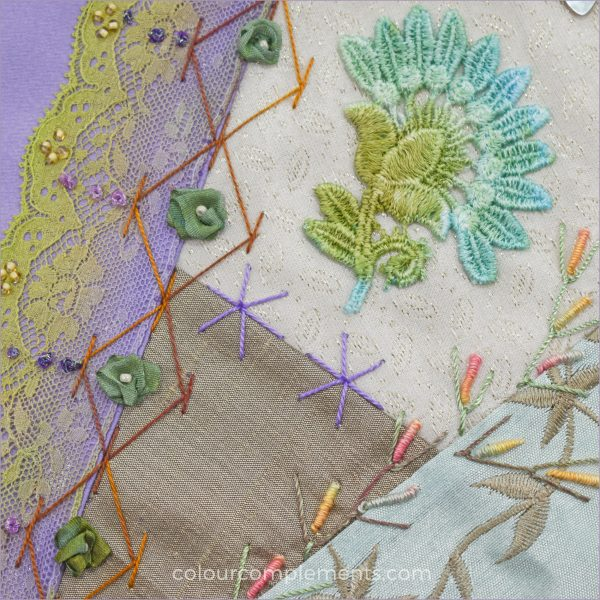Crazy Quilting with Colour Complements embroidery threads