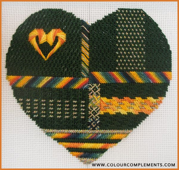 Hearts for Hospice Needlepoint