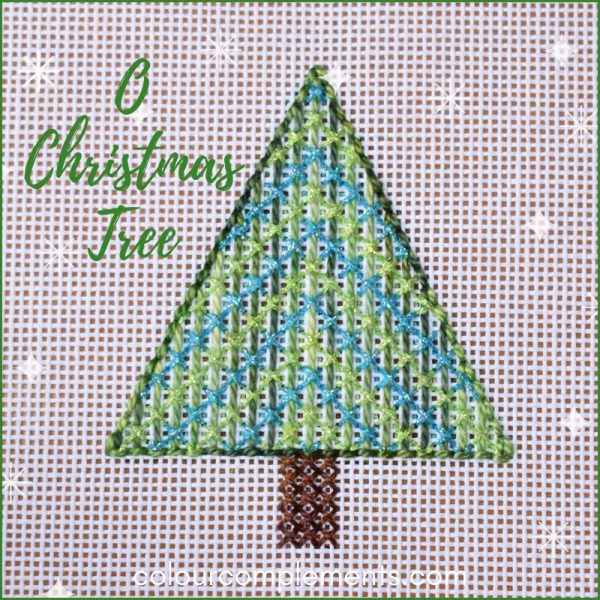 christmas tree needlework with colour complements