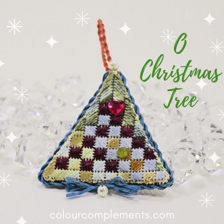 Christmas Embroidered Tree