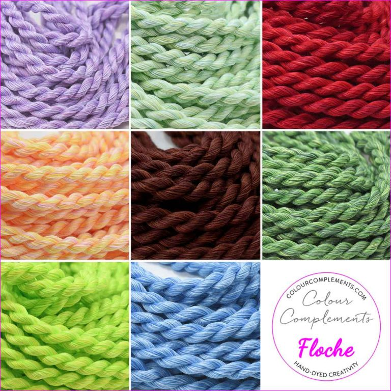 Cotton Floche Hand-Dyed