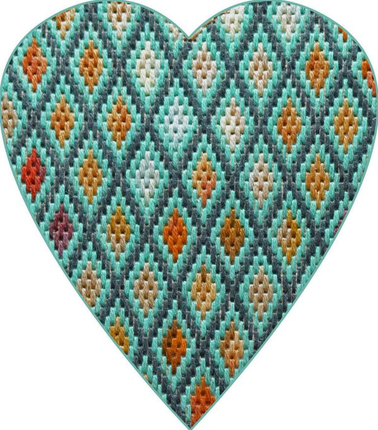 Another Bargello Heart