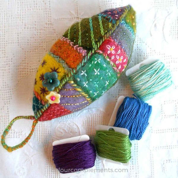 leaf-pin-cushion-embroidered