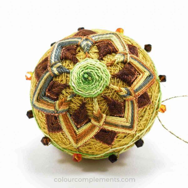 sunflower-temari-hand-dyed-threads