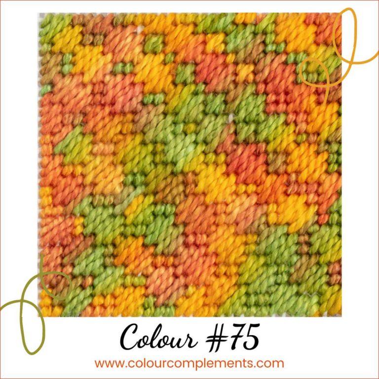 Fall Colours Stitch Sample – Colour #75