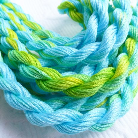 turquoise-lime-embroidery-floss-colour-complements