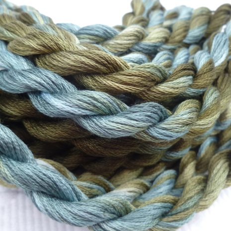 olive-green-blue-embroidery-floss-colour-complements