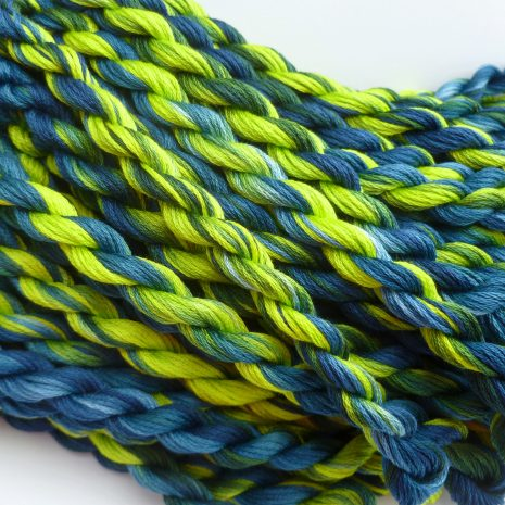 teal-lime-green-cotton-floss-colour-complements