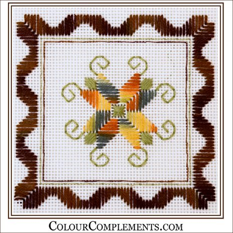 needlepoint-stitch-sample-colour-complements