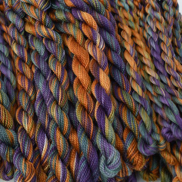 golden-brown-purple-blue-perle-cotton-by-colour-complements